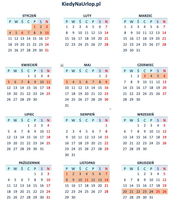 Kiedy wziąć urlop w 2021
